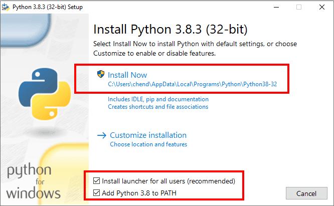 Installation de Python sous Windows