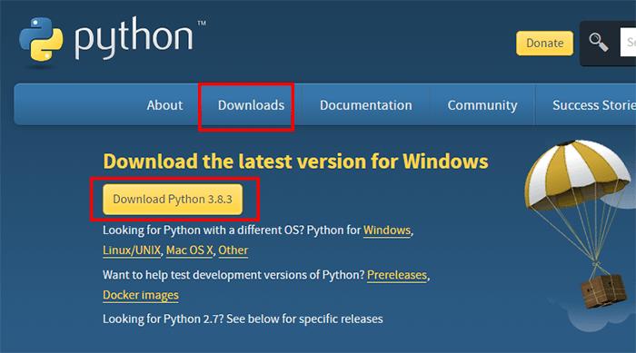 Installation de Python